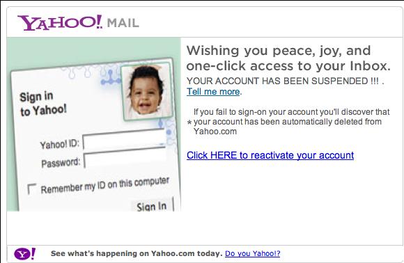Yahoo phish