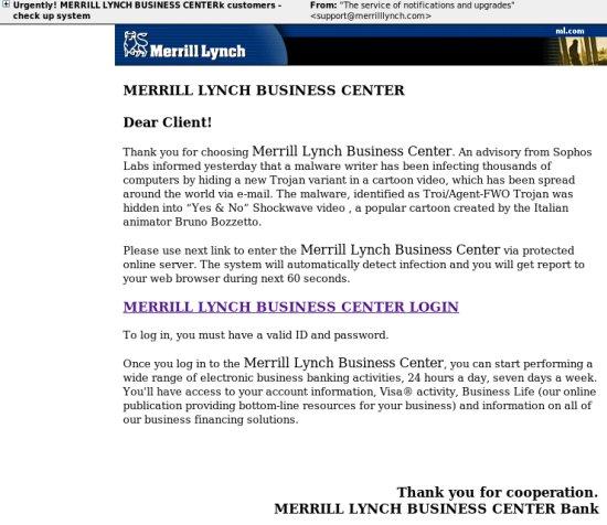 Merrill Lynch phish?
