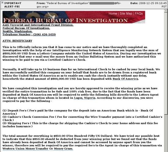 FBI Nigerian scam 1a
