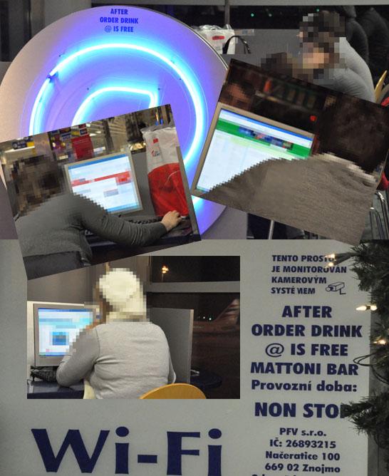 Prague internet cafe