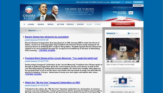 Obama - fake blog