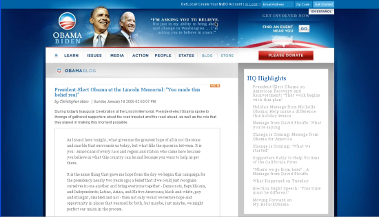 Obama - real blog