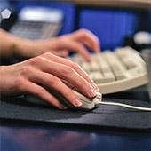 Computer keyboard typing