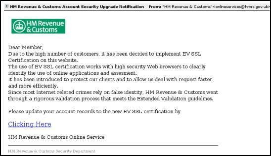 HMRC phishing email