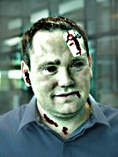 Michael Argast as a zombie