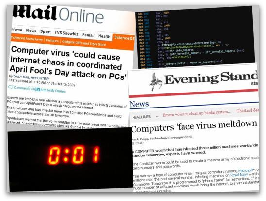 Conficker newspaper headlines