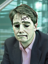 Graham Cluley as a zombie