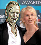 Sting as a zombie with Trudie Styler