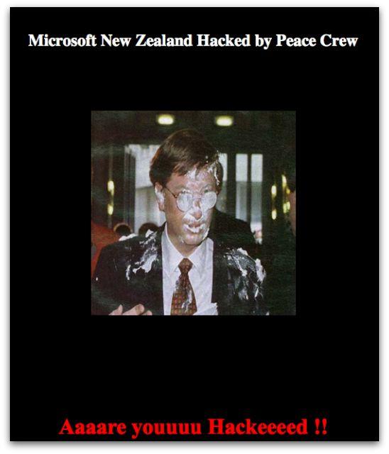 Microsoft New Zealand website hack