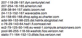 Sample spam relays