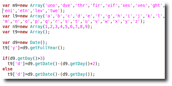 Part of the domain generation algorithm used in Mal/ObfJS-AG