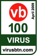 Virus Bulletin 100% award