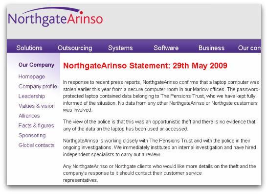 NorthgateArinso statement