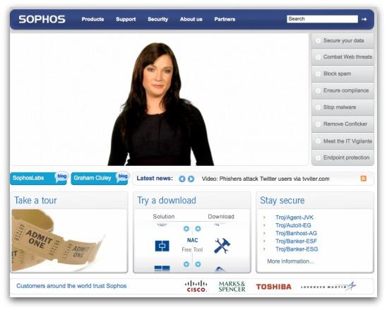 Sophos website
