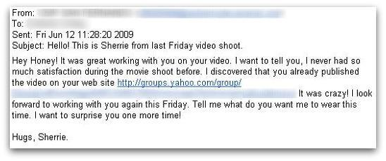 Friday video shoot email