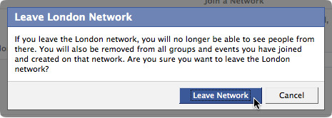 Leave London network on Facebook