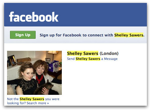 Shelley Sawers on Facebook