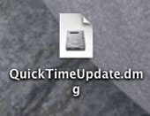 Malicious file disguised as QuickTime update