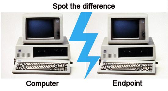 Endpoint or computer. Can you see any differences?