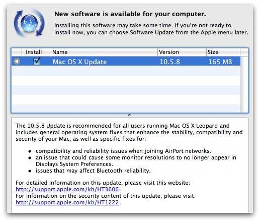 Apple Mac security update