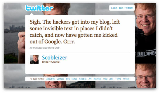 Scoble's Twitter message