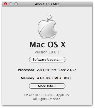 Mac OS X 10.6.1