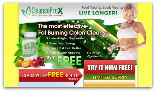 Clean Colon webpage