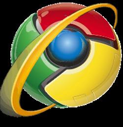 IE Chrome Logo mashup