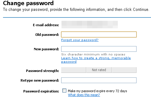 Image of Microsoft password change