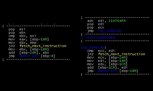 Mal/Xpaj-B polymorphic code