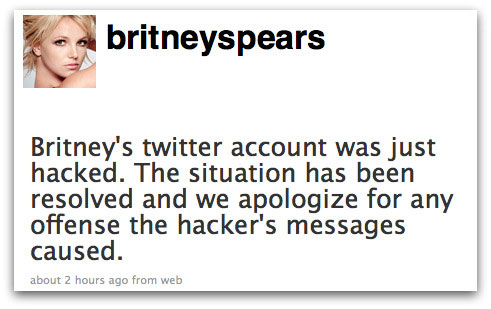 Apology from Britney Spears