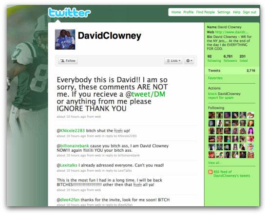 Twitter account of David Clowney