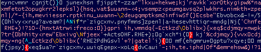 Script decoded with wrong key