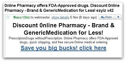 Pharmacy spam