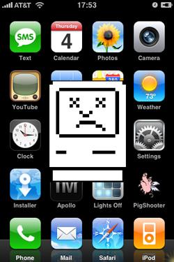 Unhappy iPhone