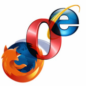 Firefox, Opera, Internet Explorer