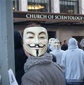 Scientology protest