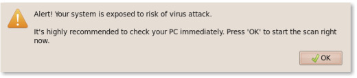 Fake anti-virus alert