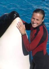 Killer whale with Dawn Brancheau