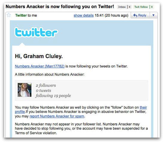 Sexy Twitter spammer
