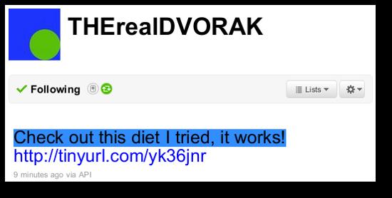 Screenshot of hacked Dvorak