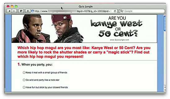 Test - are you Kanye West or 50 Cent?