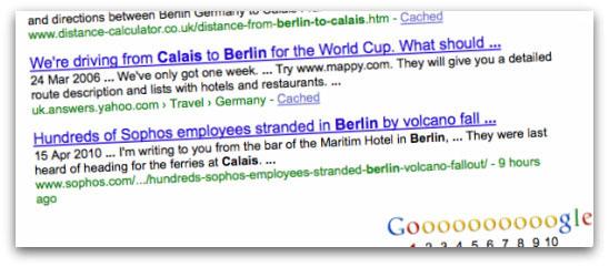 Sophos airlift Google results