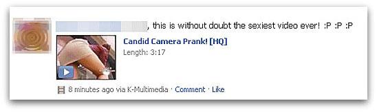 Fake Candid camera prank video on Facebook