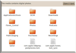 iPhone 3GS data folder
