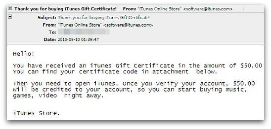 iTunes malware
