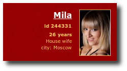 Mila - russian house wife, but already a bride