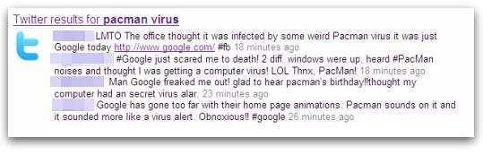 Pacman virus tweets
