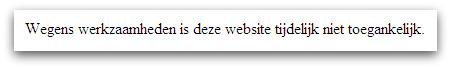 Website temporarily unavailable