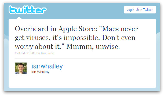 Tweet from Ian Whalley